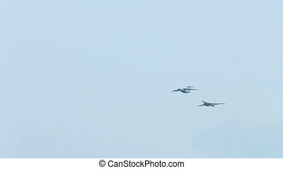 Military aviation of the Russian Federation. Simulated air...