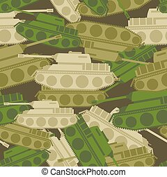 Military background from tanks. Army seamless patern. protective Camouflage of military vehicles. Soldier ornament for clothes.