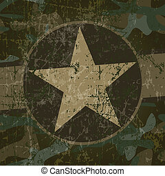 Military background with copy space and star