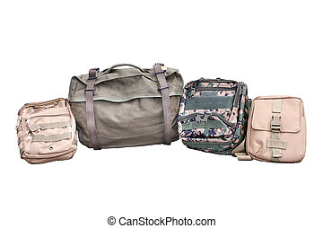 Military Backpack on Isolated