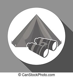 Military binoculars design , vector illustration