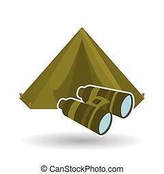 Military binoculars design , vector illustration