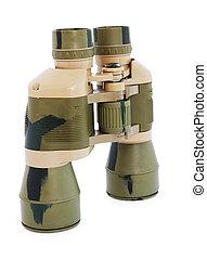 Binoculars isolated - Military Binoculars isolated on white...