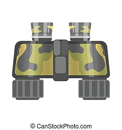 Military binoculars of camouflage color isolated cartoon ...