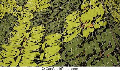 Military Camoflage Netting - Camo Net Backgrounds Loop ready...