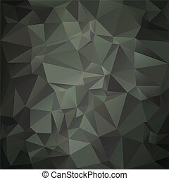 Modern military camouflage background (green, woodland) made of geometric shapes