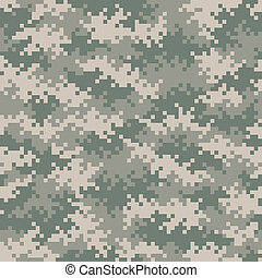 Military camouflage pixel pattern seamlessly tileable -...