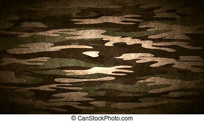 Military camouflage, video animation