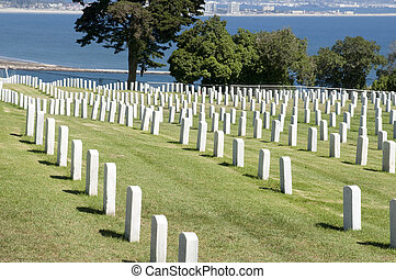 Military Cemetery at Point Loma, San Diego.