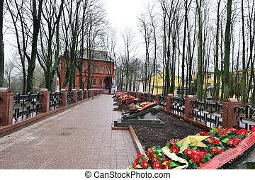 Military cemetery in Vitebsk, Belarus