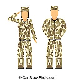 Military character weapon symbols armor man silhouette ...