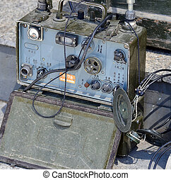 Old portable military radio stations  Two old portable soviet