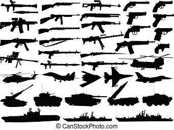 military clipart set