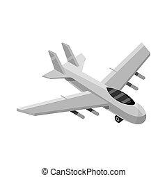 military combat airplane transport isometric icon