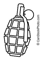 Military contour grenade - Illustration of the contour...