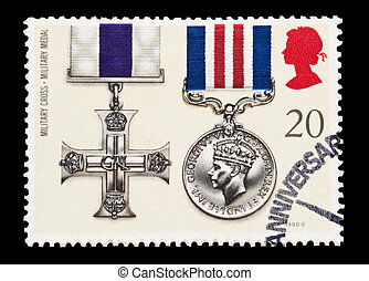 military cross - BRITISH: mail stamp featuring the Military...