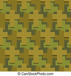 Military cross seamless pattern. Army abstract religious texture. Protective ornament for soldiers. Green soldiery background. war khaki for hunters and troops