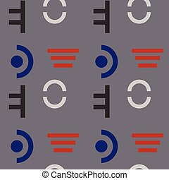 Military discipline seamless pattern