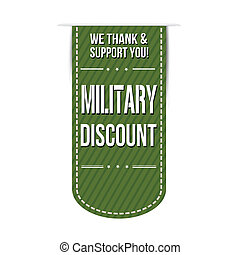 Military discount banner design over a white background, ...