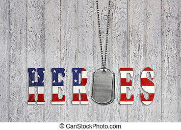 military dog tags for heroes - Flag font with dog tags for...