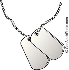 Military Dog Tags Vector Illustration
