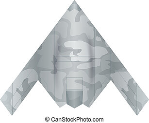 Military drone on a white background. Vector illustration