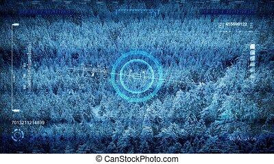 Military Drone POV Frozen Valley