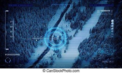 Military Drone POV Scanning River - POV flight computer...