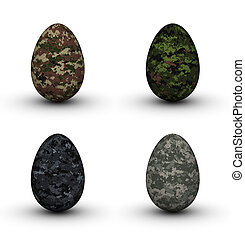 Military Easter Eggs - Digital Camouflage Easter Eggs Set...