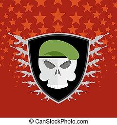 military emblem.
