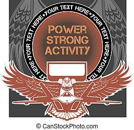 Military Emblem - vector illustration - Military Emblem Air...