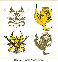 Military Emblem - Vector Set.
