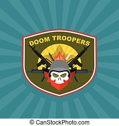 Military Emblem with a skull