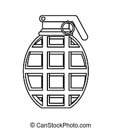 Military equipment figure grenade icon image