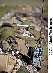 Military equipment - Full military equipment a soldier lying...