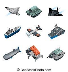 Military Equipment Isometric Set