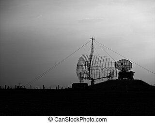 military equipment radio equipment during darkness