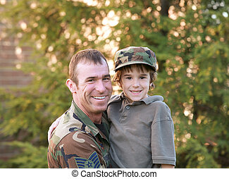 Father and Son - Military Father and Son