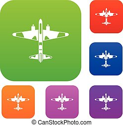 Military fighter aircraft set collection
