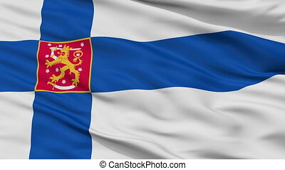Military Finland Flag Closeup Seamless Loop - Military...