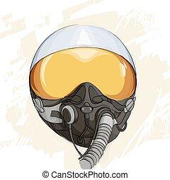 Military flight helmet