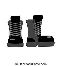 Military footwear. Soldier special shoes. army boot