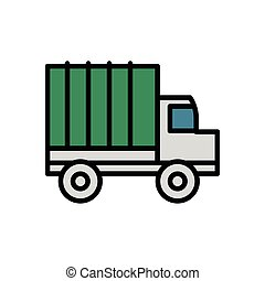 military force truck isolated icon