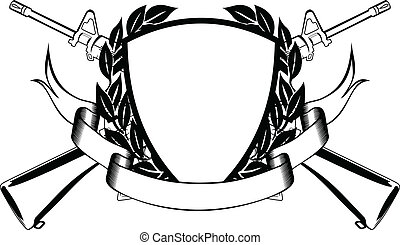 military frame - The vector image of the framework, crossed...