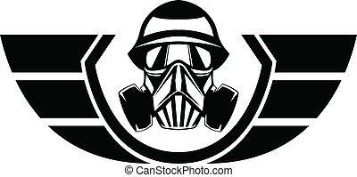 Gas Mask - Military Gas Mask Logo