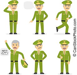 Military general character vector