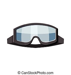 Military goggles icon, cartoon style