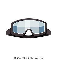 Military goggles icon, cartoon style