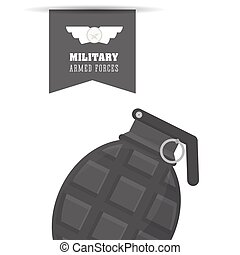 Military grenade design , vector illustration