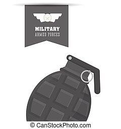 Military grenade design , vector illustration